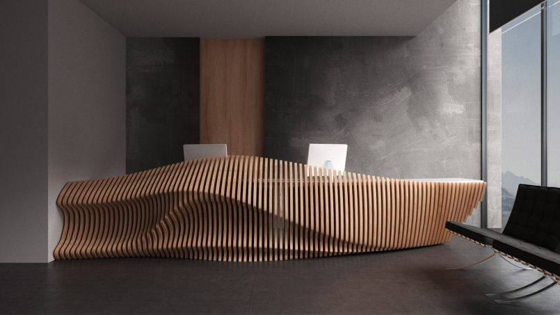 Organic Shaped Furniture By Parametric 8