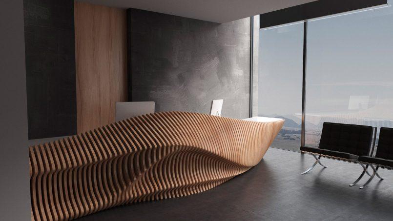 Organic Shaped Furniture By Parametric 9