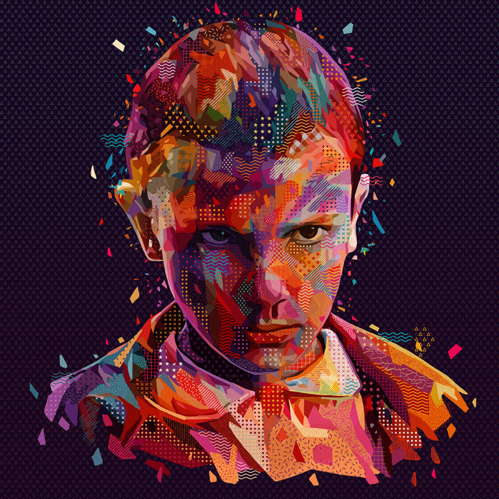 Pop Portraits Illustrations Of Pop Culture Icons In Colorful Patterns By Alessandro Pautasso 10