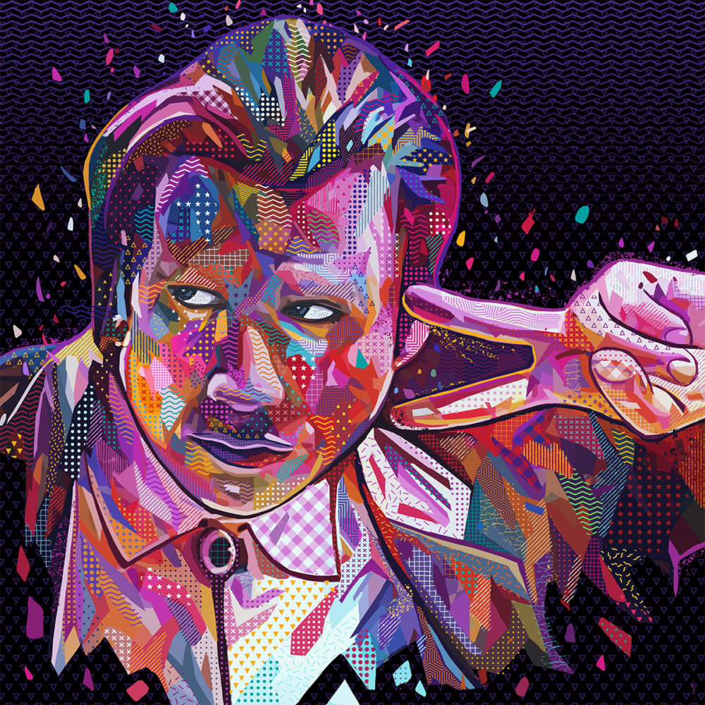 Pop Portraits Illustrations Of Pop Culture Icons In Colorful Patterns By Alessandro Pautasso 8