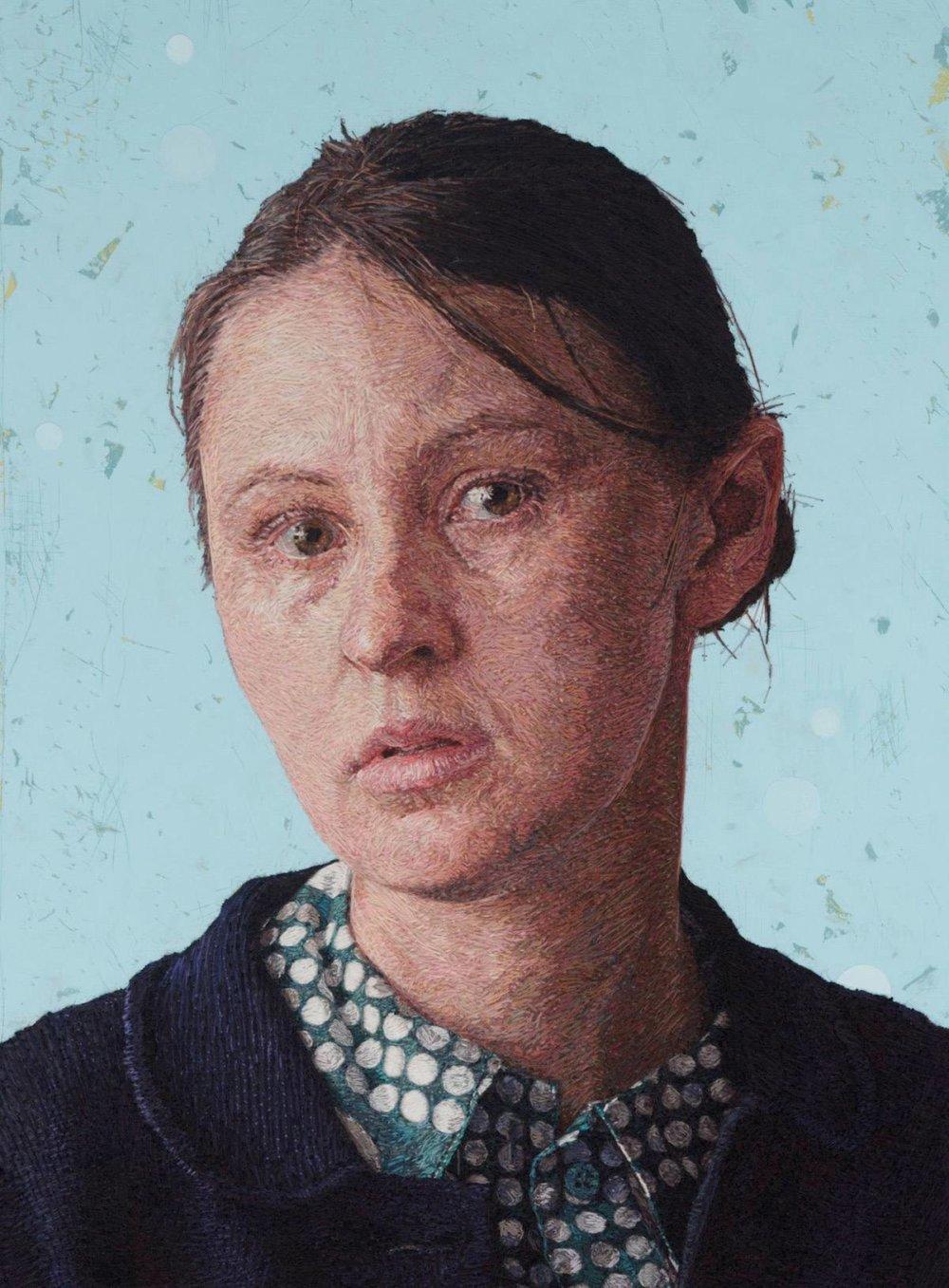 Realistic Embroidered Portraits By American Artist Cayce Zavaglia 1