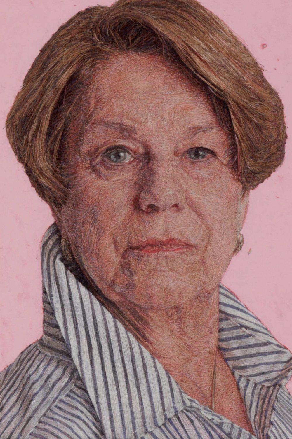 Realistic Embroidered Portraits By American Artist Cayce Zavaglia 10