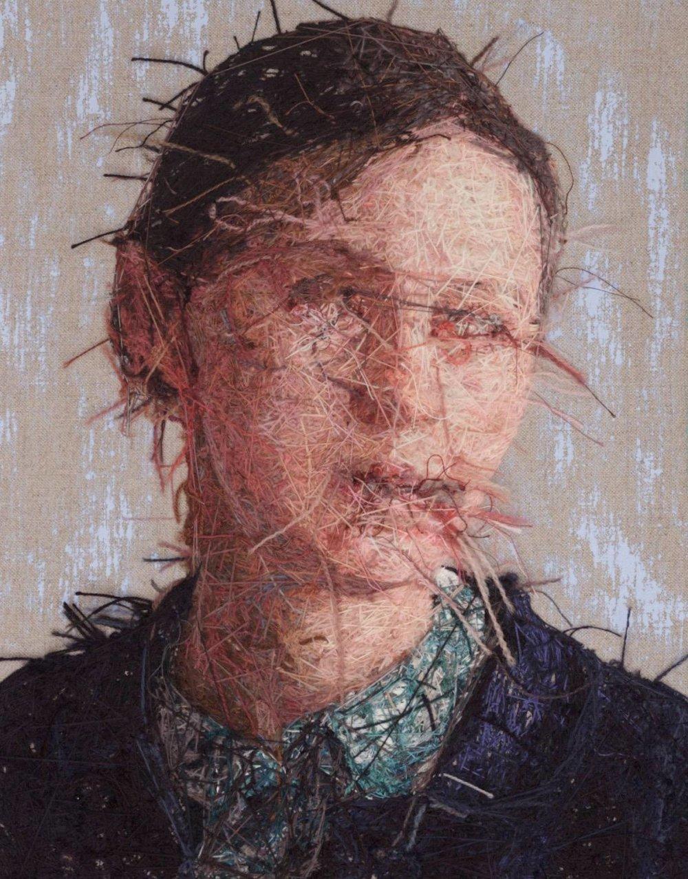 Realistic Embroidered Portraits By American Artist Cayce Zavaglia 2