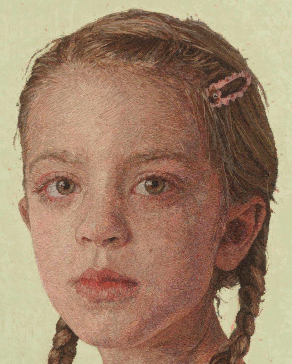 Realistic Embroidered Portraits By American Artist Cayce Zavaglia 6