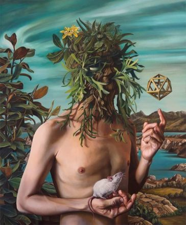 Sacred plants: surreal oil paintings of people fused with nature by Alejandro Pasquale