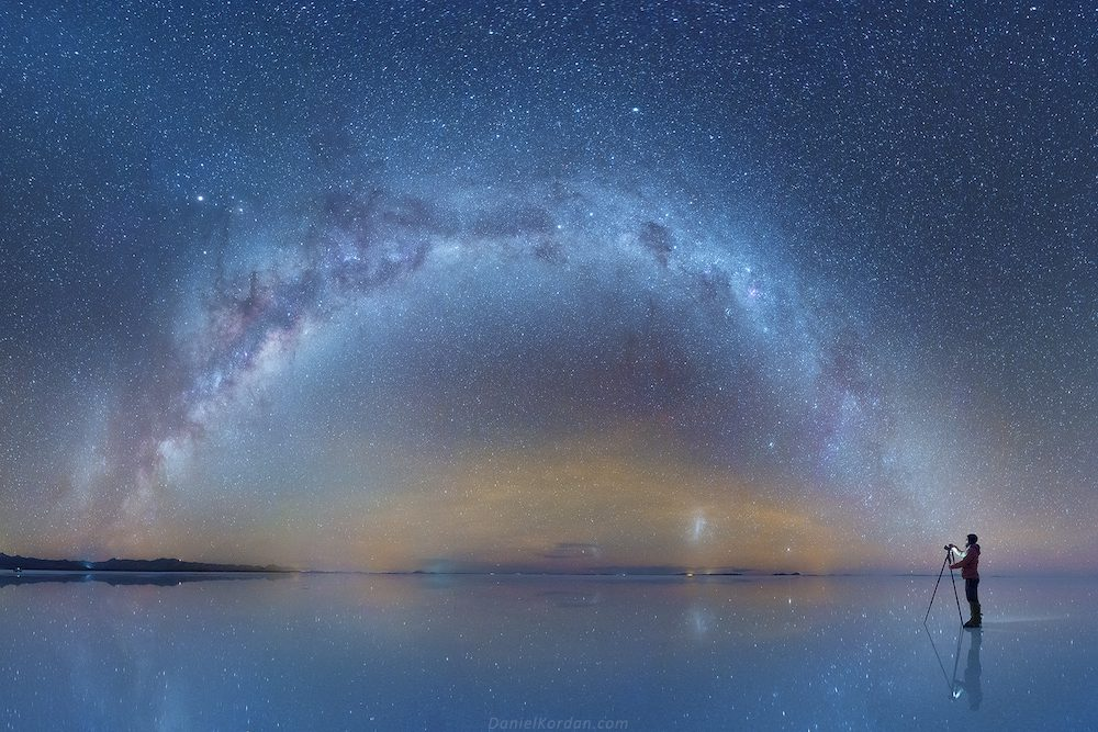 Salar De Uyuni And Milky Way Spectacular Photos Of Our Galaxy Mirrored In The Worlds Largest Salt Flat By Daniel Kordan 1