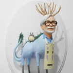 Sculptures of famous film directors fused with their main characters by Mike Leavitt