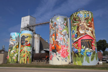 Silos turned into amazingly giant murals by Key Detail