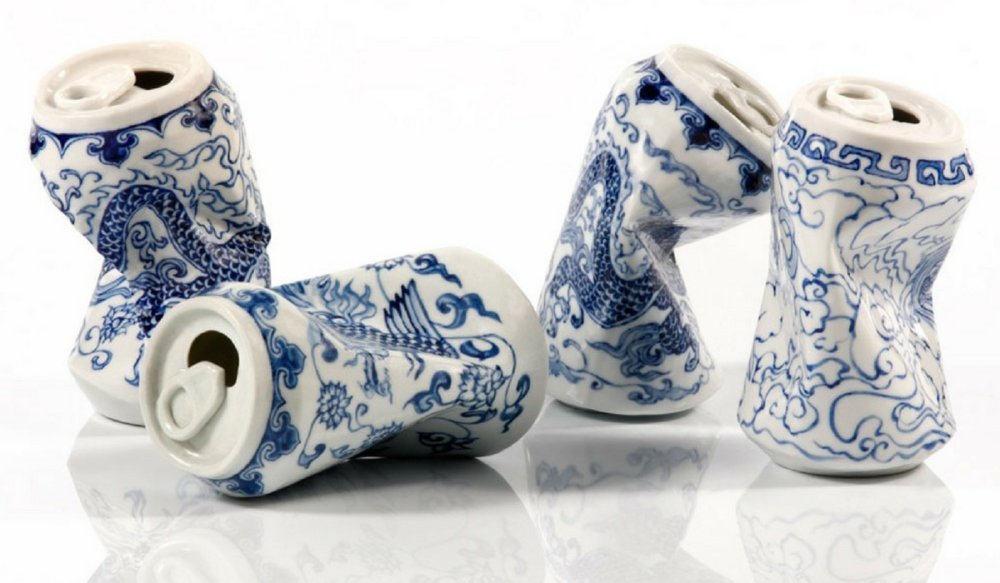 Smashed Can Sculptures Made Of Porcelain In The Ancient Style Of The Ming Dynasty By Lei Xue 1