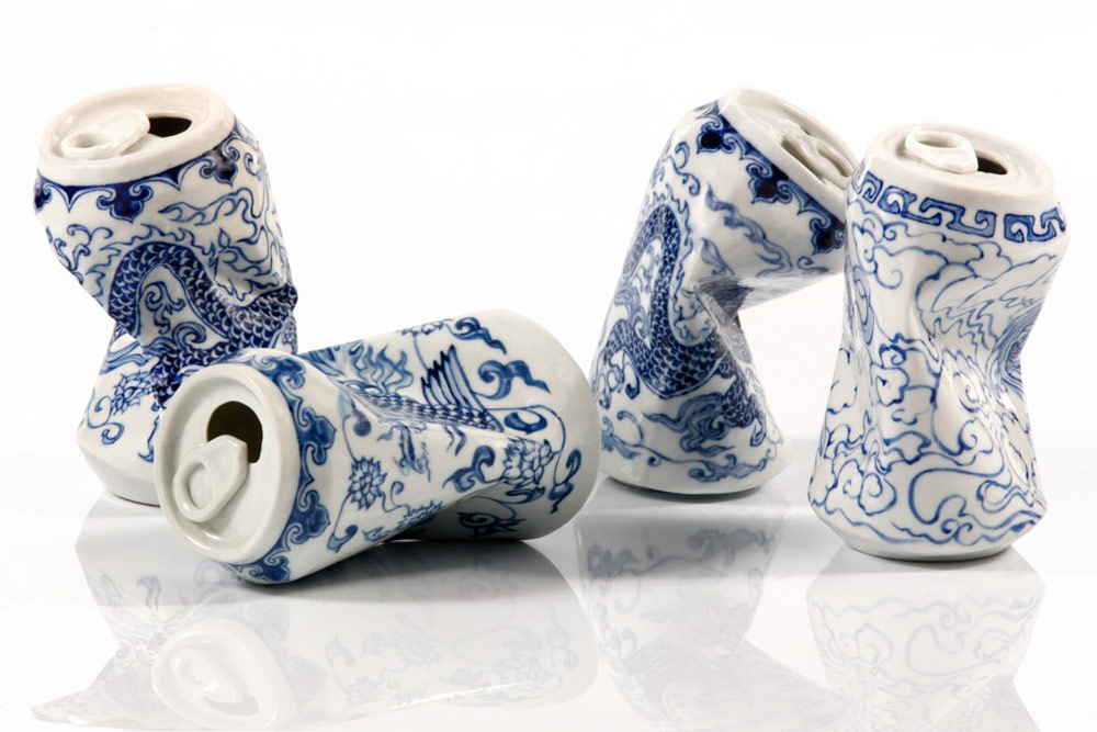Smashed Can Sculptures Made Of Porcelain In The Ancient Style Of The Ming Dynasty By Lei Xue 2