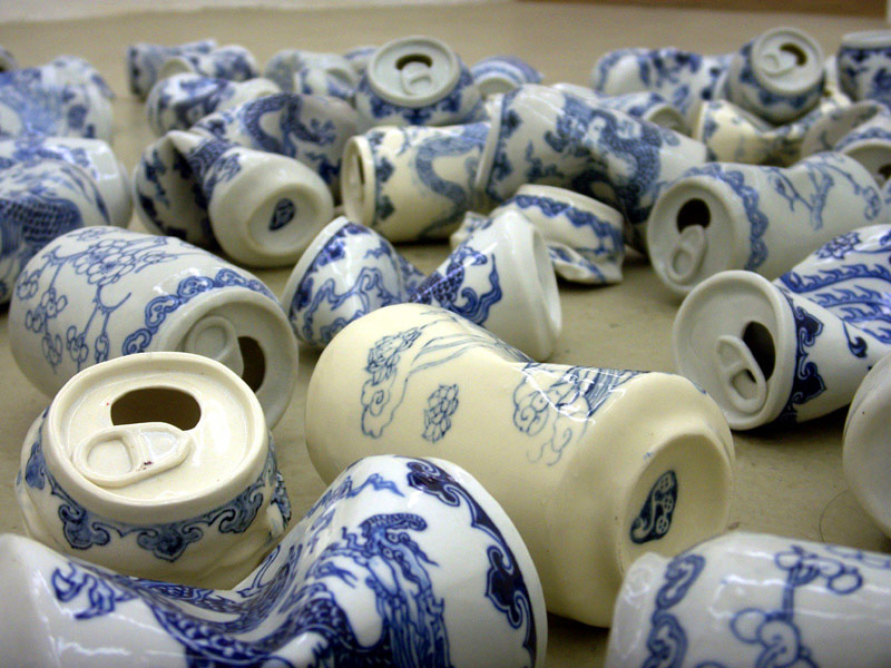 Smashed Can Sculptures Made Of Porcelain In The Ancient Style Of The Ming Dynasty By Lei Xue 3