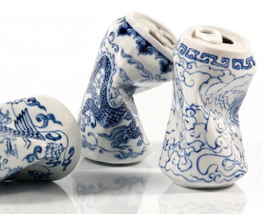Smashed Can Sculptures Made Of Porcelain In The Ancient Style Of The Ming Dynasty By Lei Xue 4