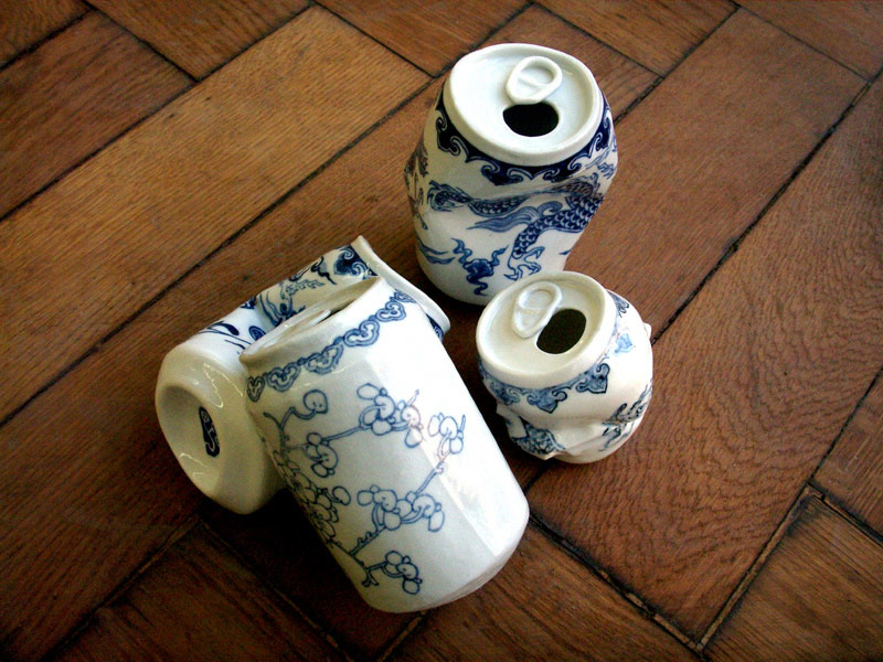 Smashed Can Sculptures Made Of Porcelain In The Ancient Style Of The Ming Dynasty By Lei Xue 5