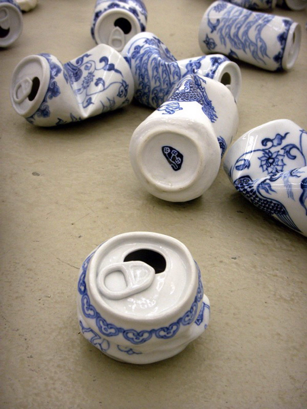 Smashed Can Sculptures Made Of Porcelain In The Ancient Style Of The Ming Dynasty By Lei Xue 7