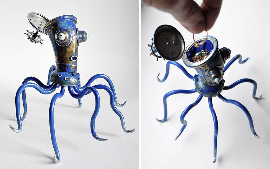 Steampunk Sculptures Made From Trash By Arturas Tamasauskas 2