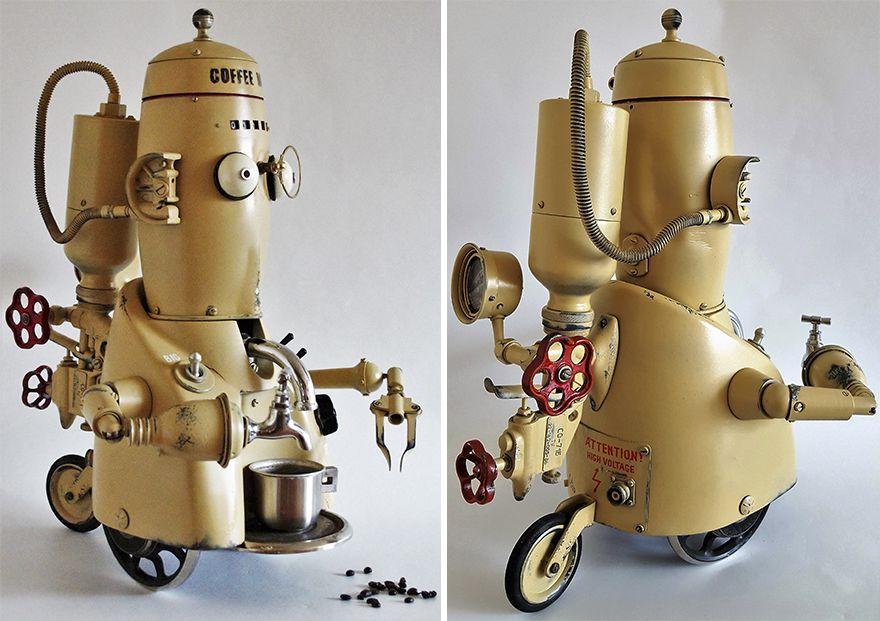 Steampunk Sculptures Made From Trash By Arturas Tamasauskas 4