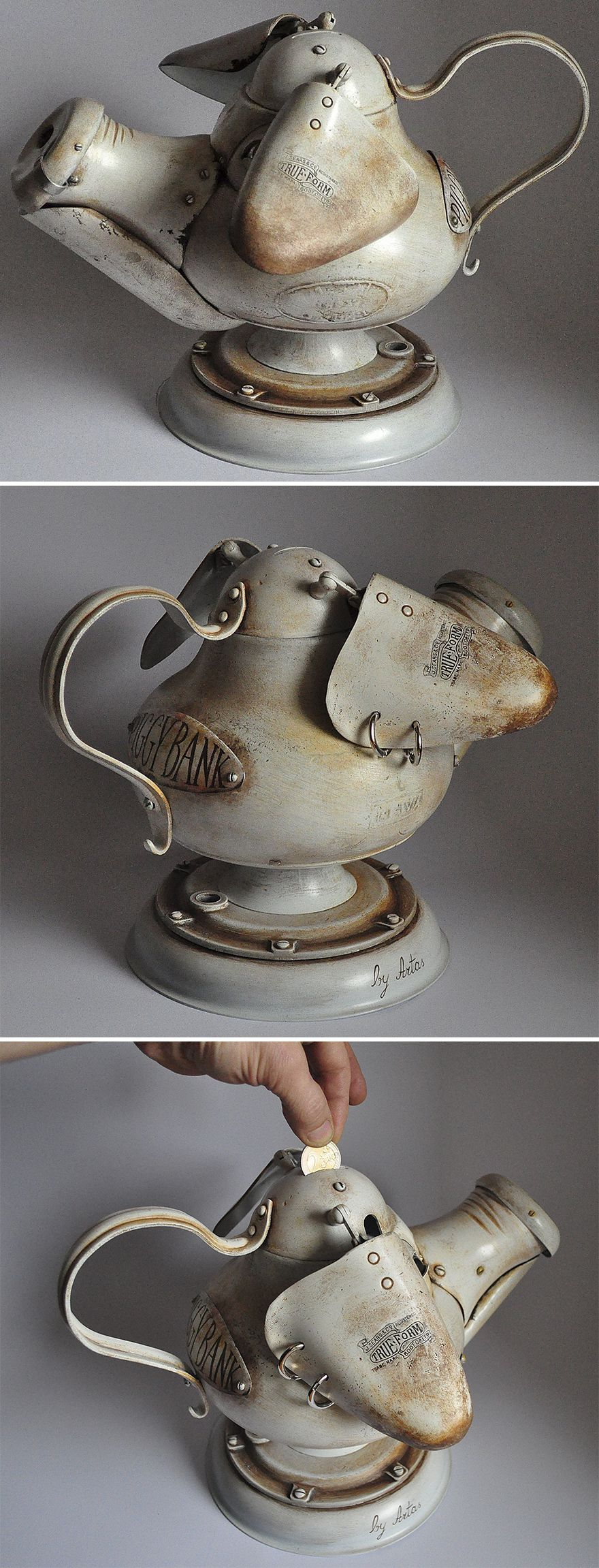 Steampunk Sculptures Made From Trash By Arturas Tamasauskas 5