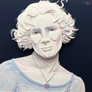 Stunning 3D portraits and illustrations made out of layered paper cuts by Ale Rambar