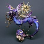 Stunning dragon and phoenix sculptures by Evgeniya Glazkova