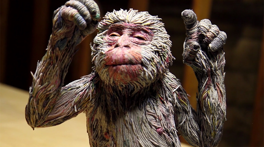 Stunning Lifelike Animal Sculptures Made From Thousands Of Densely Rolled Newspaper By Chie Hitotsuyama 2