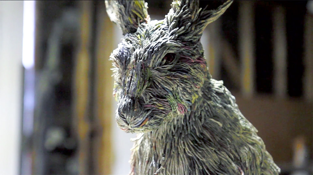 Stunning Lifelike Animal Sculptures Made From Thousands Of Densely Rolled Newspaper By Chie Hitotsuyama 8