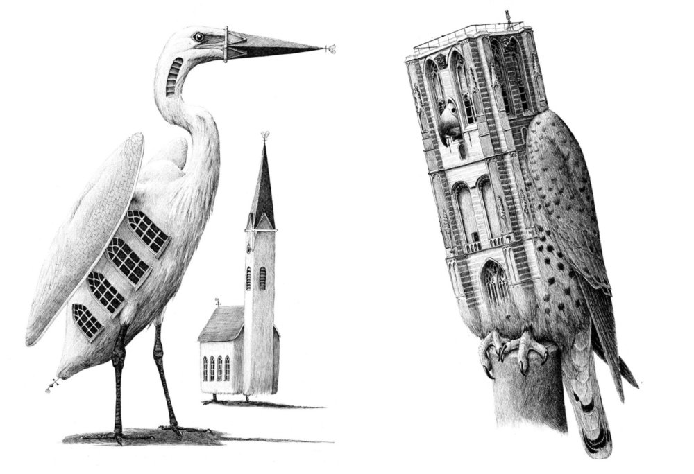 Surreal Black And White Animal Illustrations By Redmer Hoekstra 3
