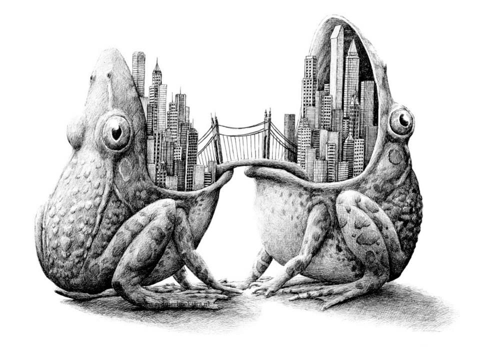 Surreal Black And White Animal Illustrations By Redmer Hoekstra 7