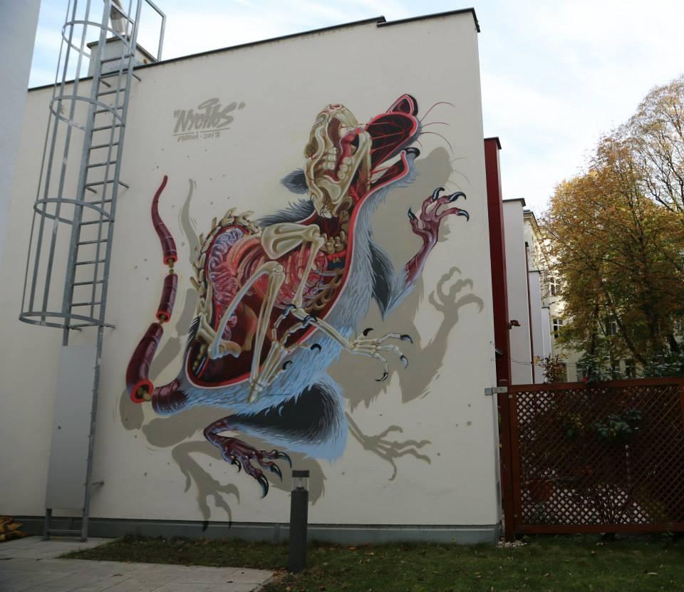 Surrealist Murals Of Anatomical Figures By Austrian Artist Nychos 16