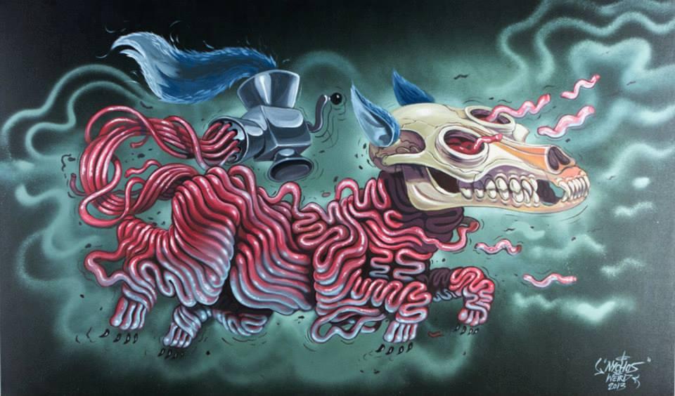 Surrealist Murals Of Anatomical Figures By Austrian Artist Nychos 7