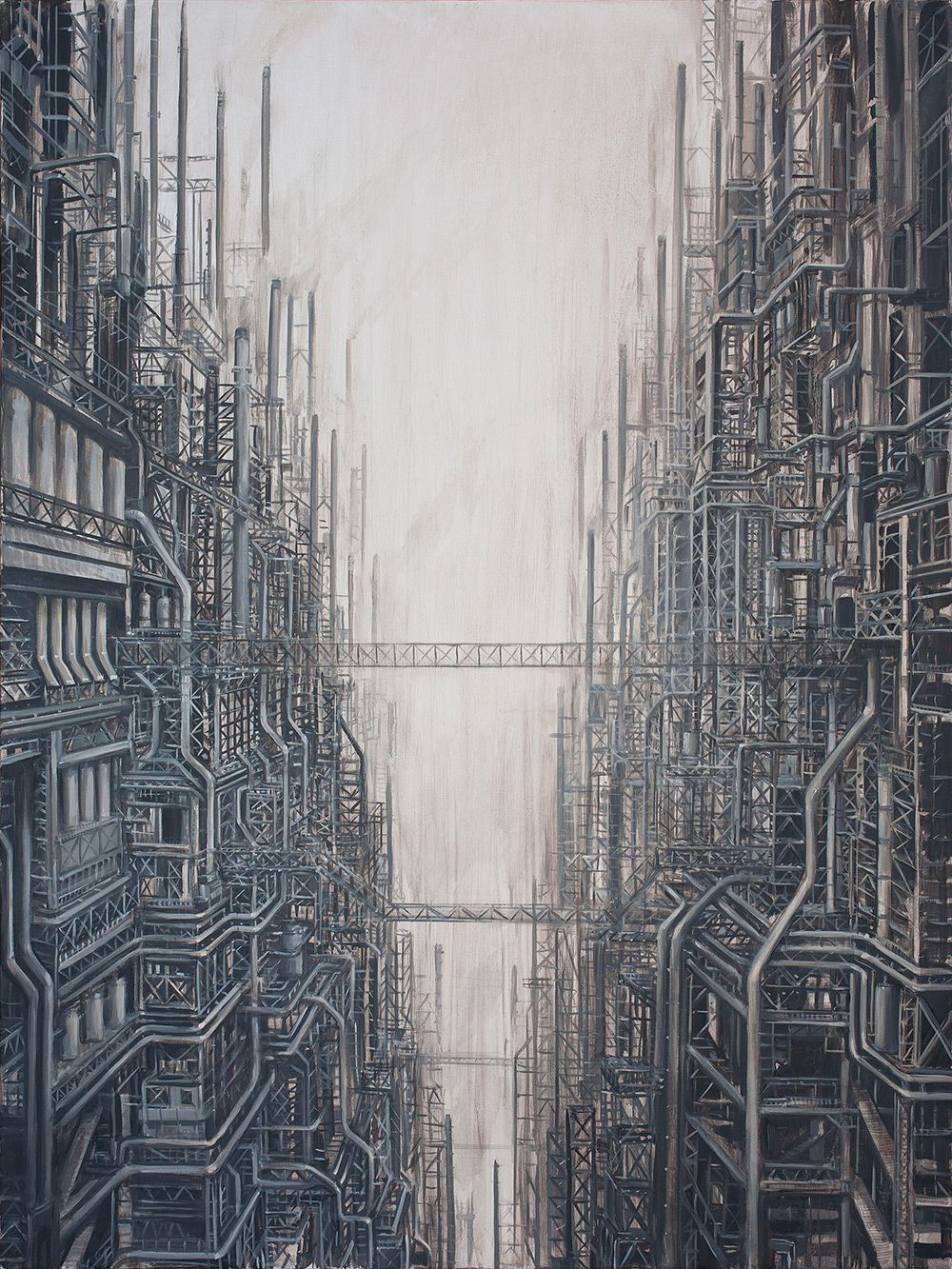 Surrealist Paintings Of Dystopian Worlds By Michael Kerbow 4