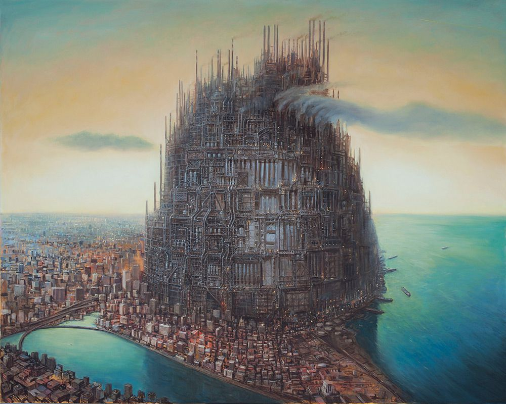 Surrealist Paintings Of Dystopian Worlds By Michael Kerbow 5
