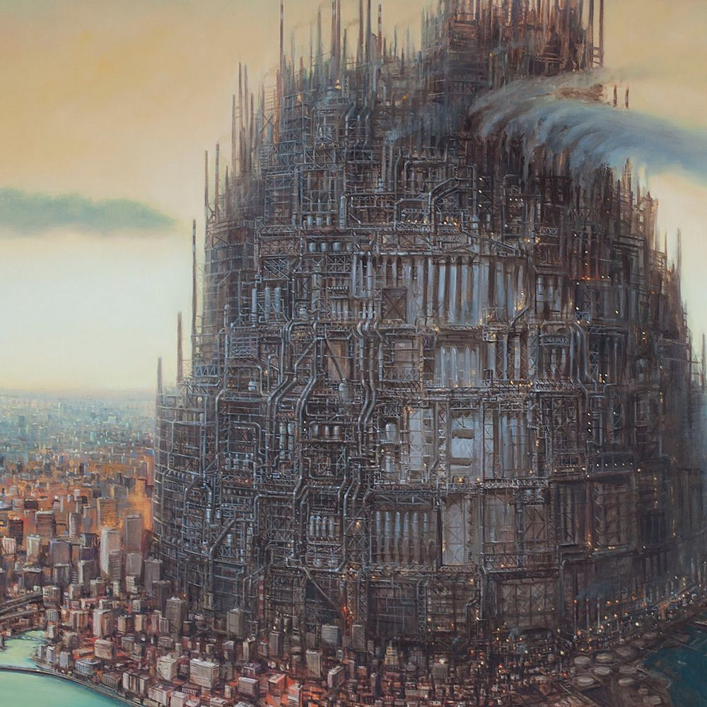 Surrealist Paintings Of Dystopian Worlds By Michael Kerbow 6