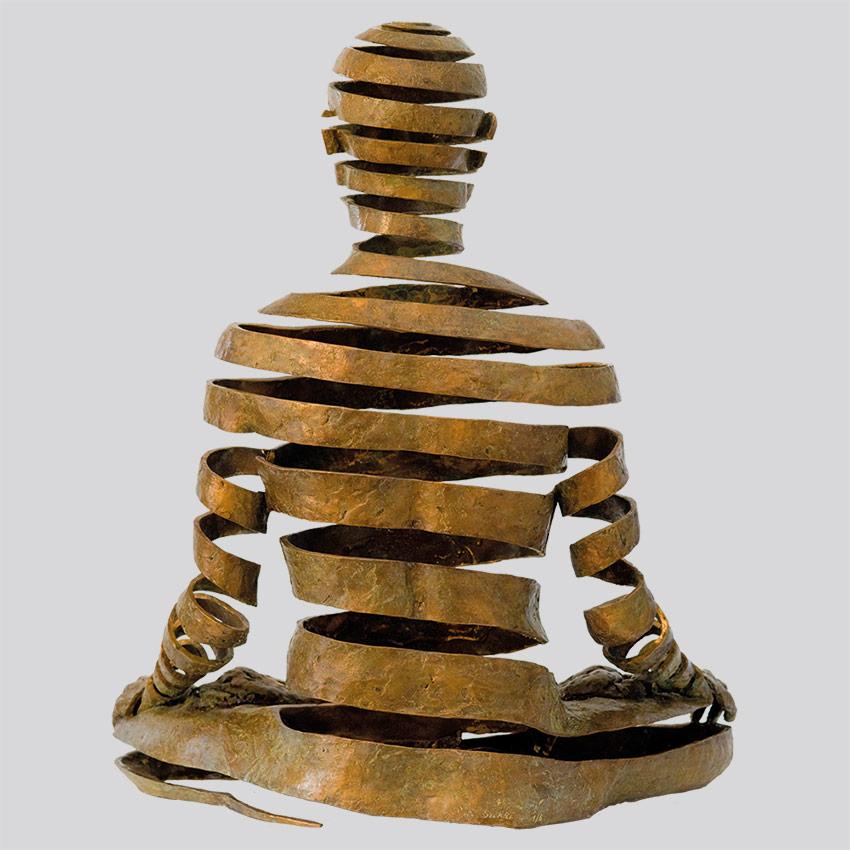 Transcendence Sublime Surrealistic Bronze Sculptures Of People In Meditation By Sukhi Barber 1