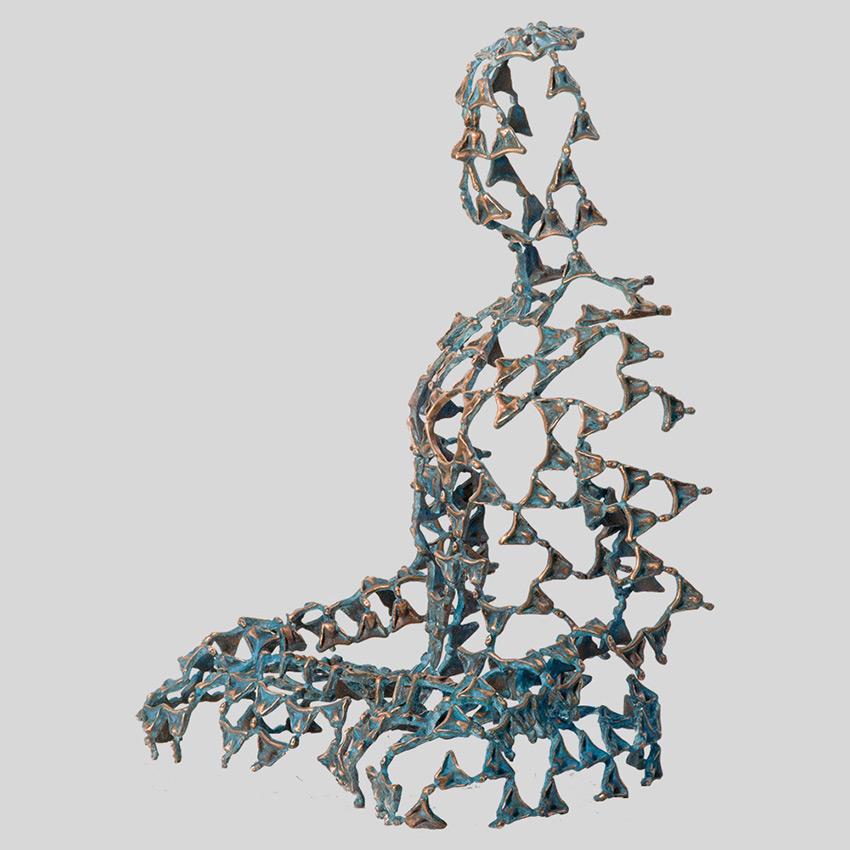 Transcendence Sublime Surrealistic Bronze Sculptures Of People In Meditation By Sukhi Barber 11