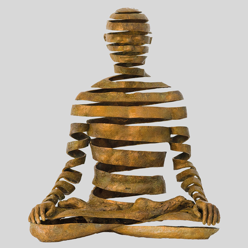 Transcendence Sublime Surrealistic Bronze Sculptures Of People In Meditation By Sukhi Barber 2