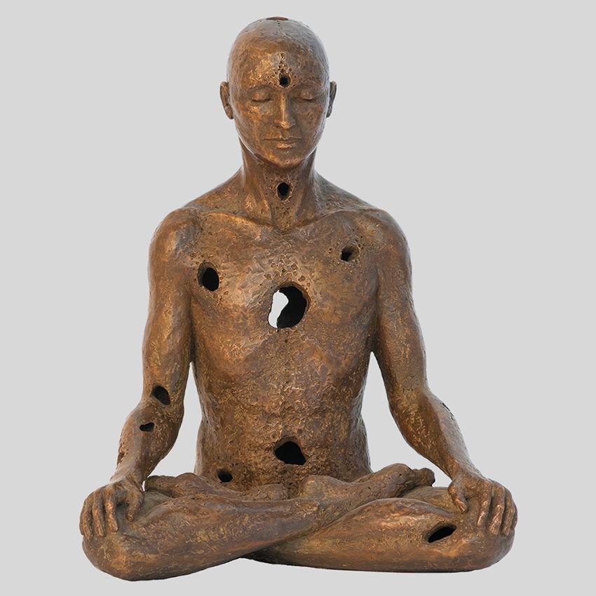 Transcendence Sublime Surrealistic Bronze Sculptures Of People In Meditation By Sukhi Barber 3