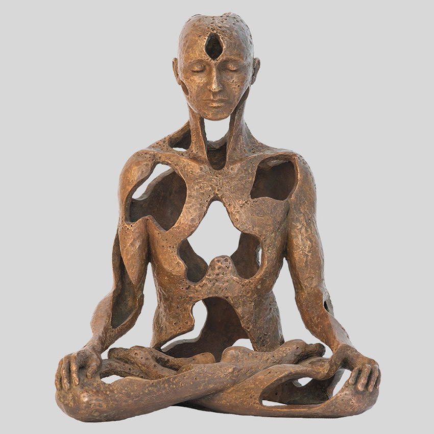 Transcendence Sublime Surrealistic Bronze Sculptures Of People In Meditation By Sukhi Barber 4