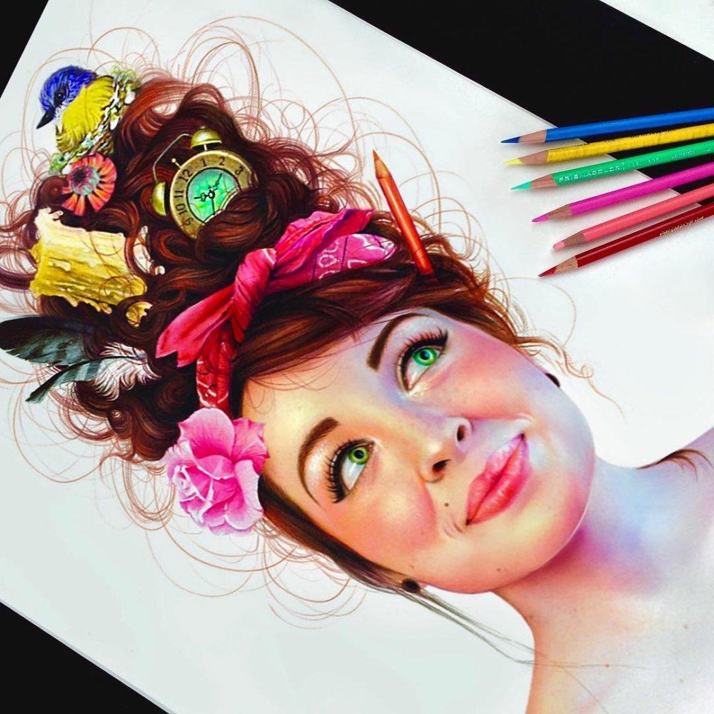 Vibrant Pencil Drawings By Morgan Davidson 2