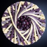 Wonderful pies and tarts decorated with geometric and colorful details by Lauren Ko