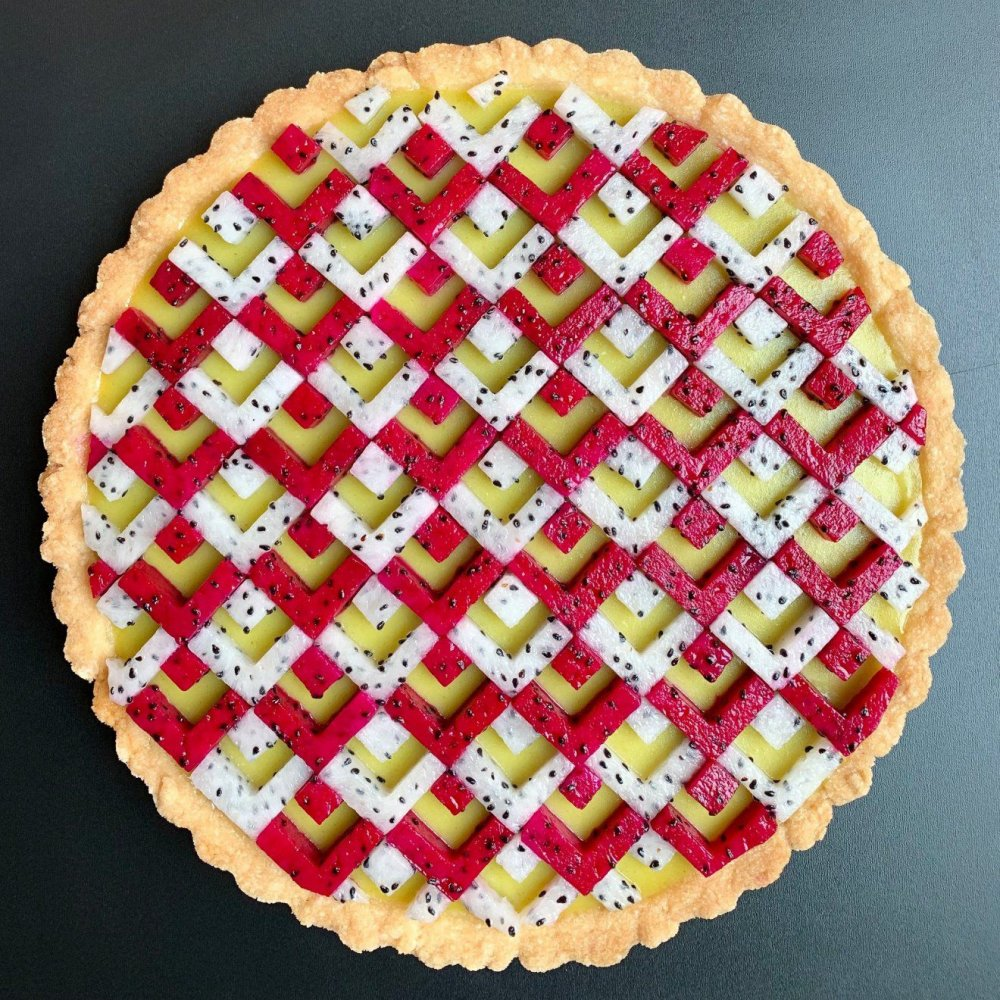 Wonderful Pies And Tarts Decorated With Geometric And Colorful Details By Lauren Ko 4