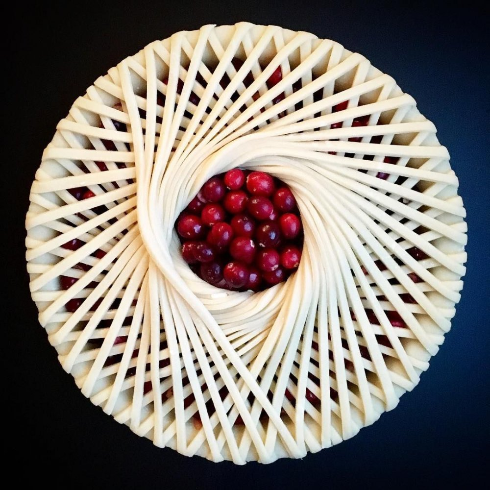 Wonderful Pies And Tarts Decorated With Geometric And Colorful Details By Lauren Ko 8