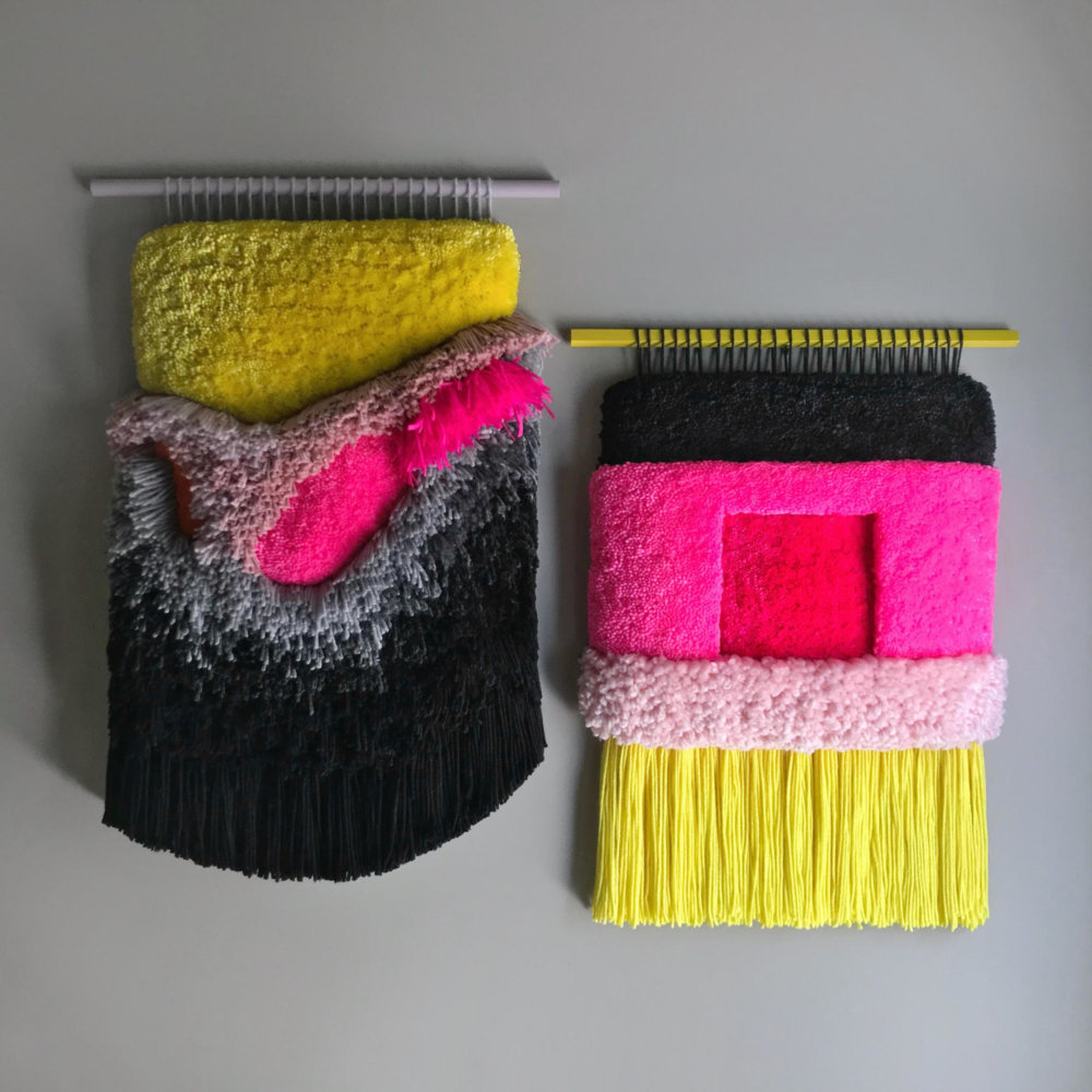 Abstract And Improvised Wall Tapestries With Vibrant Colors By Judit Just Antelo 4