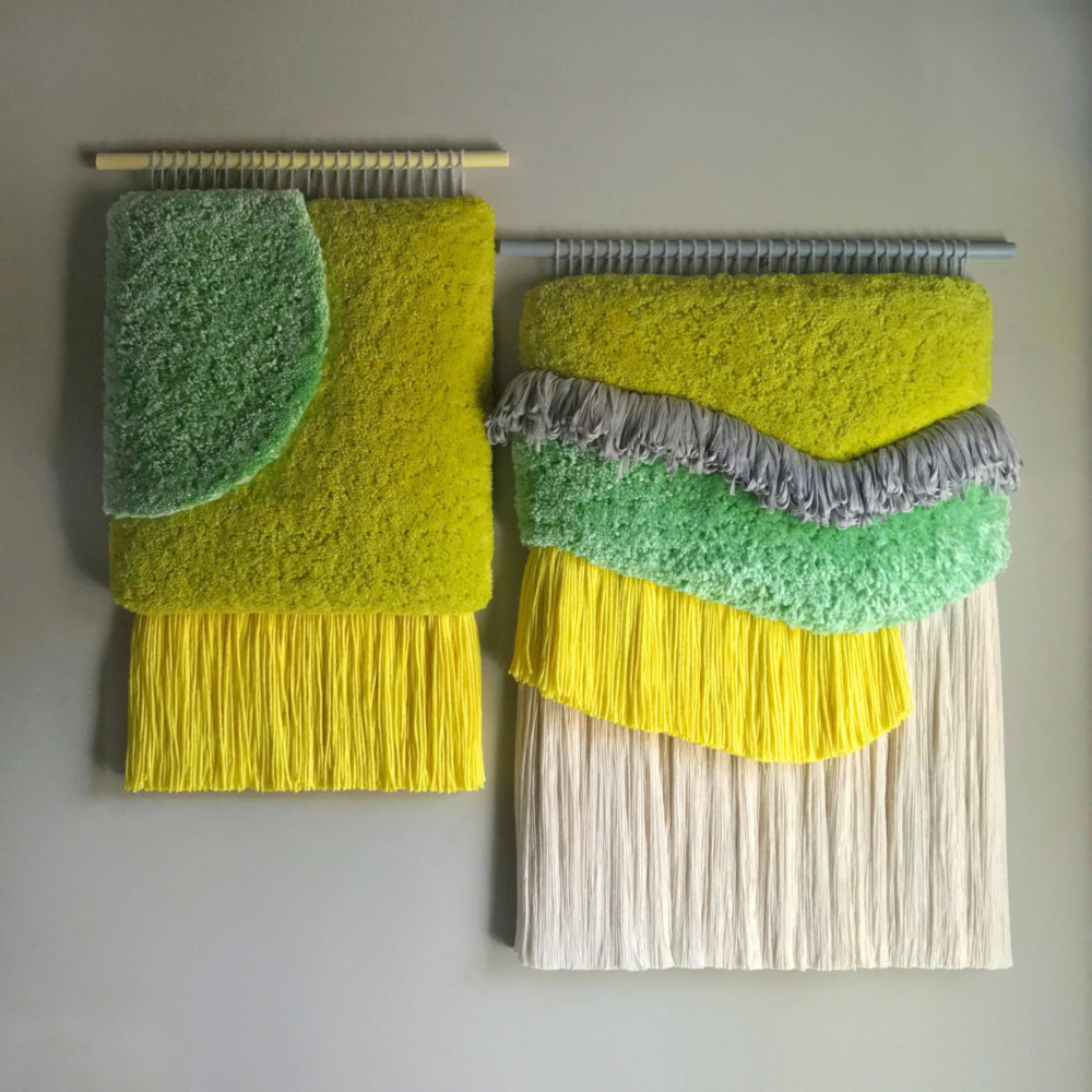 Abstract And Improvised Wall Tapestries With Vibrant Colors By Judit Just Antelo 5