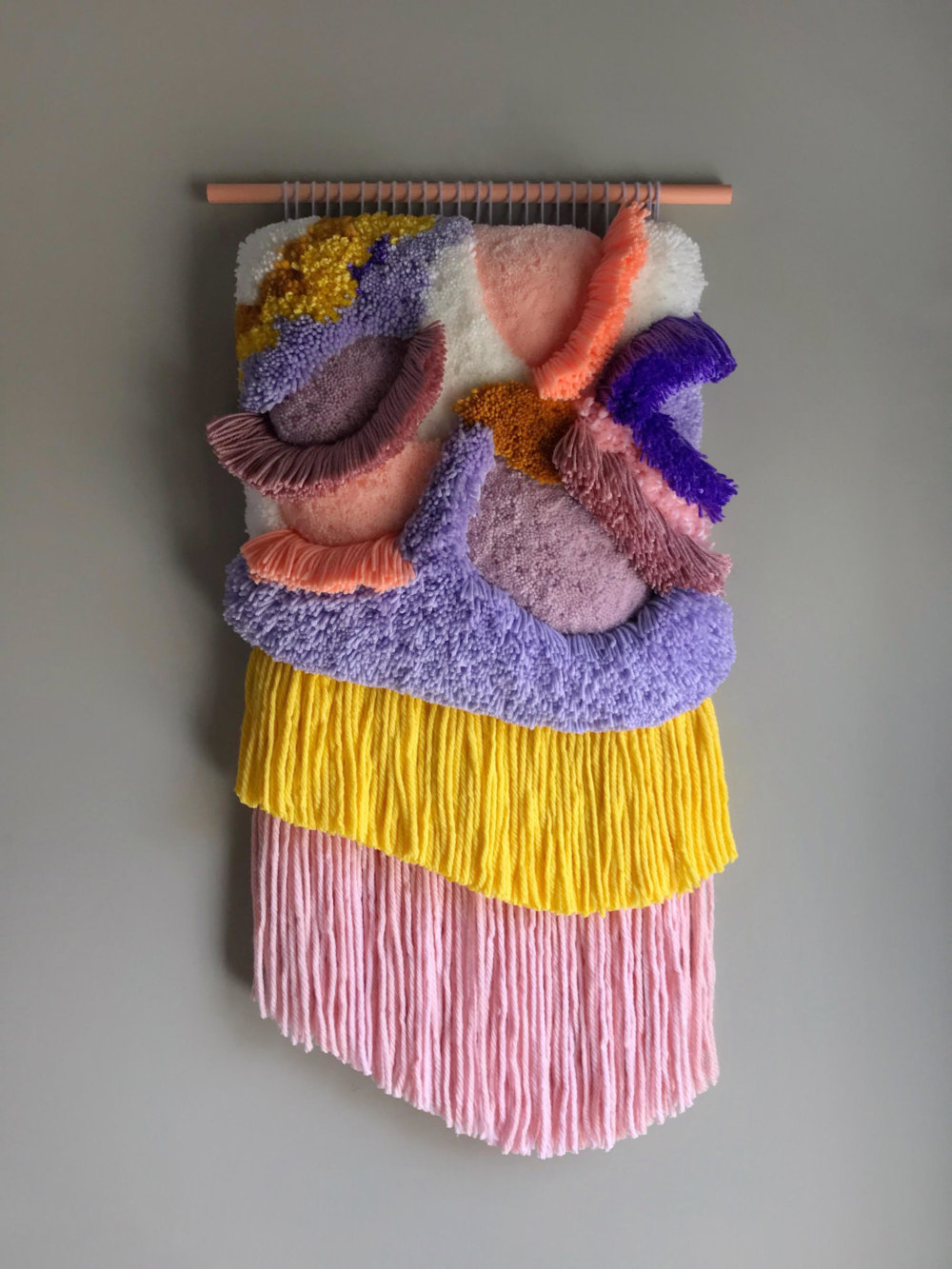 Abstract And Improvised Wall Tapestries With Vibrant Colors By Judit Just Antelo 8