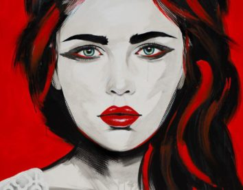 Beautiful imperfection: charming female portrait paintings by Emma Sheldrake