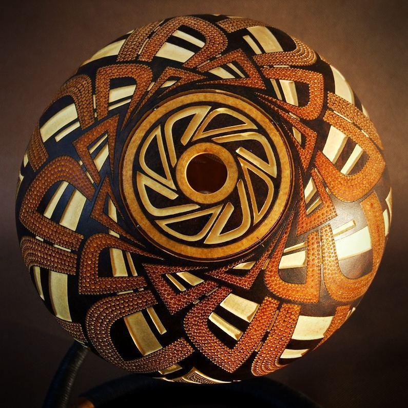 Calabarte Superb Calabash Sculptures That Are Also Lamps Designed By Przemek Krawczynski 3