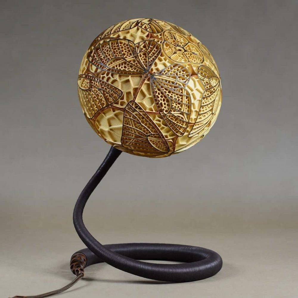 Calabarte Superb Calabash Sculptures That Are Also Lamps Designed By Przemek Krawczynski 6