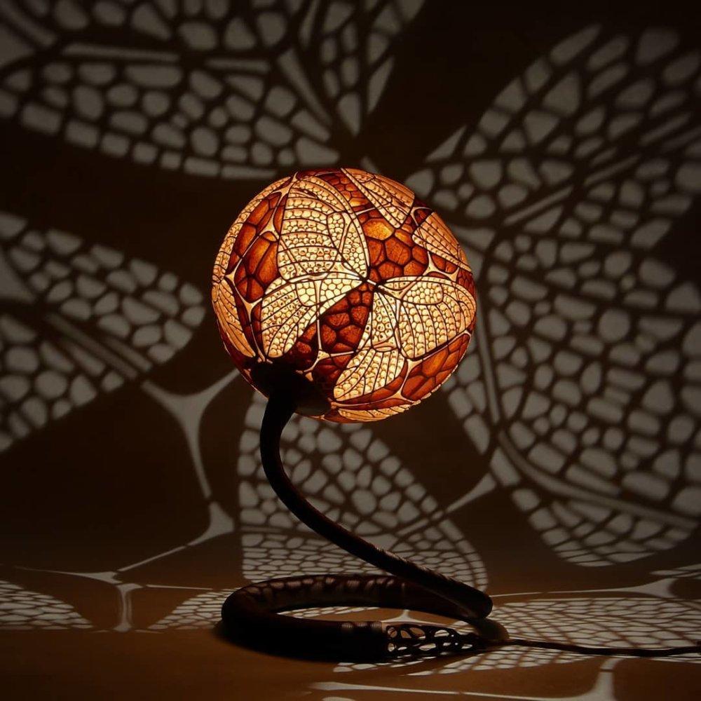 Calabarte Superb Calabash Sculptures That Are Also Lamps Designed By Przemek Krawczynski 7