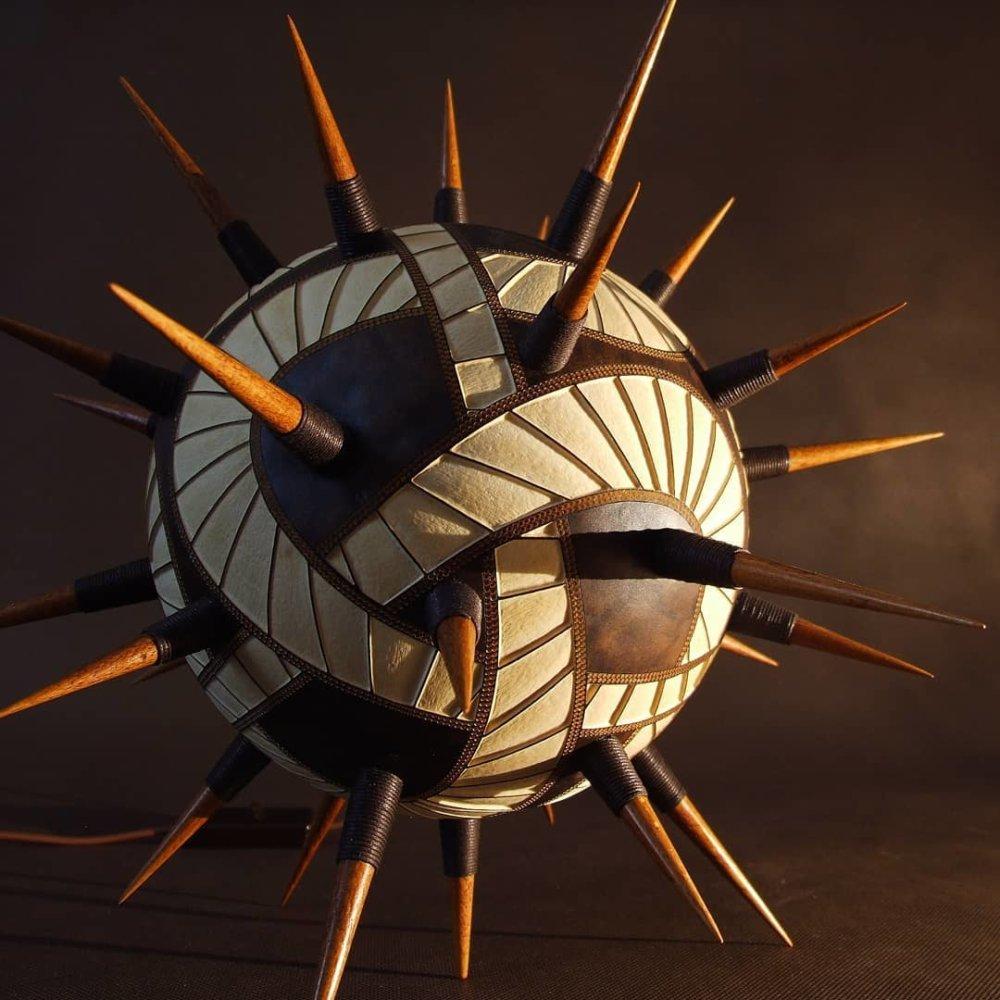 Calabarte Superb Calabash Sculptures That Are Also Lamps Designed By Przemek Krawczynski 9