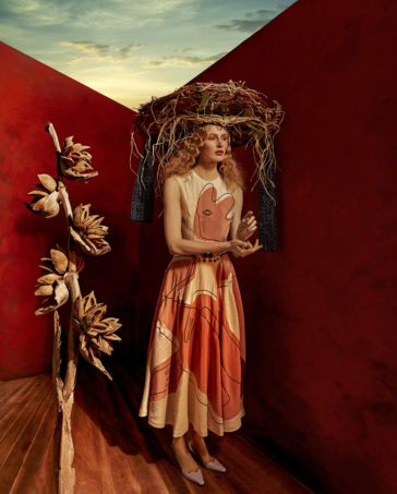 """""""Dorothea Tanning"""": a fashion and beauty photograph series by Sandrine and Michael"""